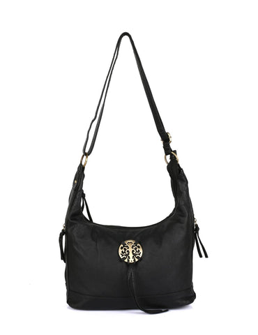 Avery Pre-Washed Women's Hobo Bag Black - karlahanson.com