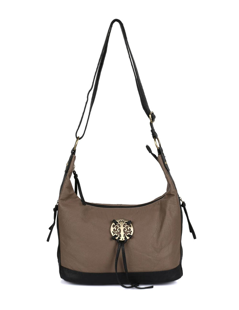 Avery Pre-Washed Women's Hobo Bag Taupe - karlahanson.com