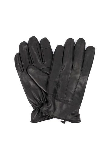 Men's Genuine Leather Touch Screen Gloves