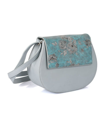 Leah Women's Crossbody Saddle Bag Blue - karlahanson.com