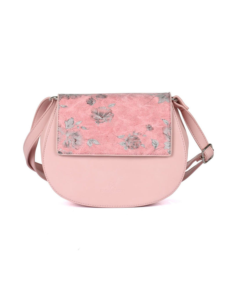 Leah Women's Crossbody Saddle Bag Pink - karlahanson.com