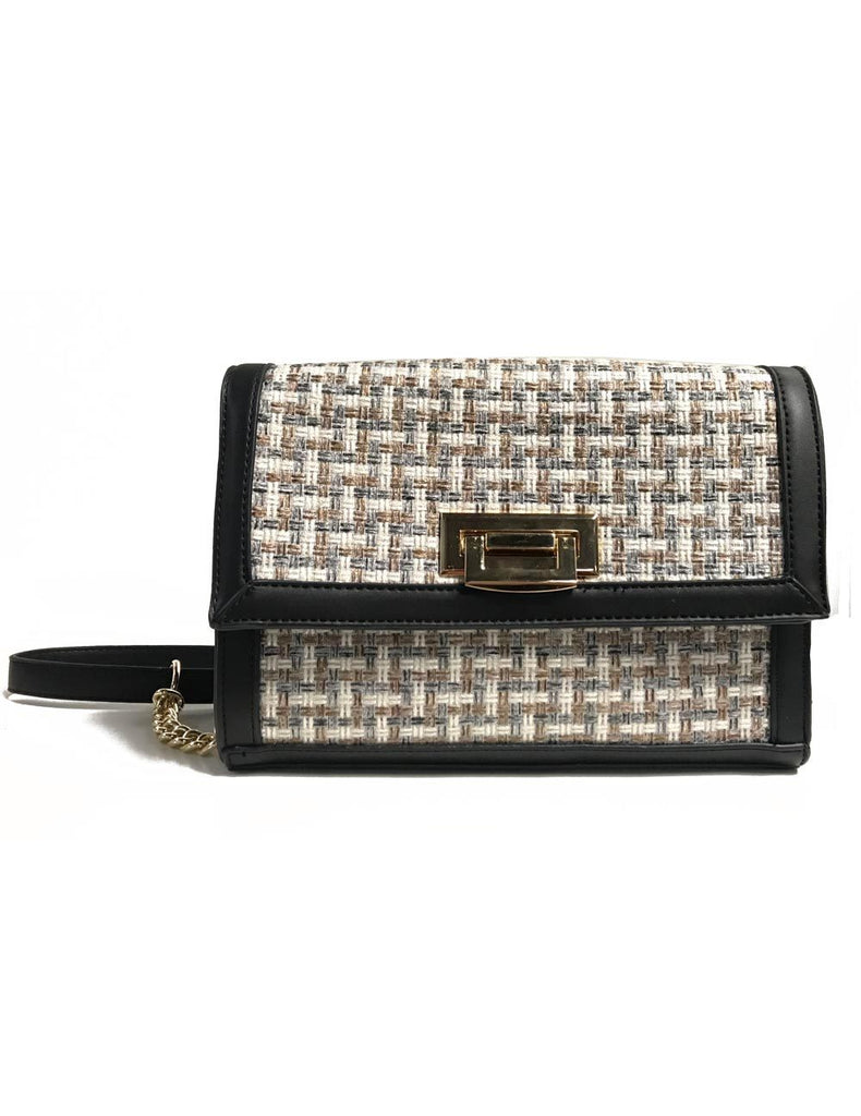Elena Women's Crossbody Bag Black Beige - karlahanson.com