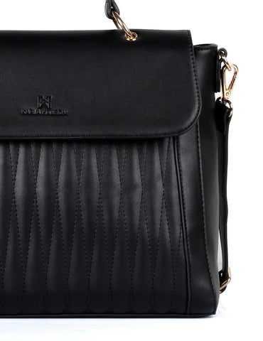Claire Women's Satchel Bag Black - karlahanson.com