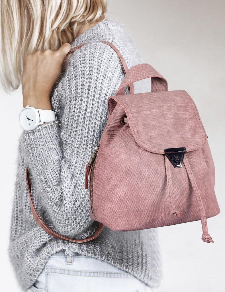 Hailey Women's 2 in 1 Backpack & Crossbody Bag Pink - karlahanson.com