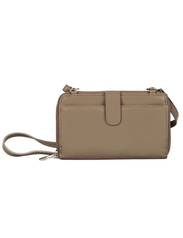 Leah Women's RFID Crossbody Phone Wallet Beige