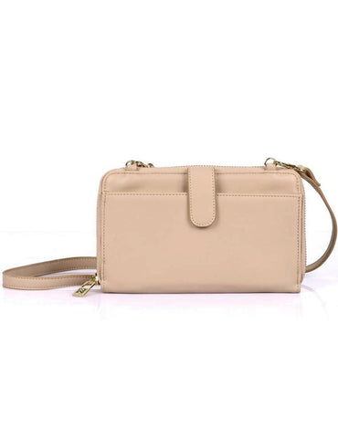 Leah Women's RFID Crossbody Phone Wallet Blush - karlahanson.com