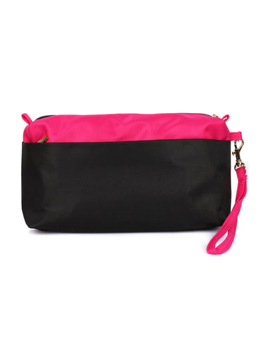 RFID Organizer Swap Crossbody Clutch Bag Pink Black - karlahanson.com