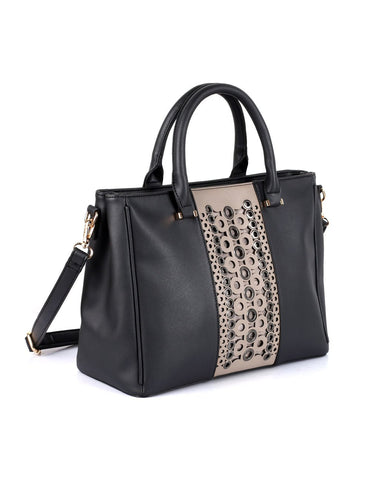 Harper Women's Stud-and-Eyelet Satchel Bag - karlahanson.com