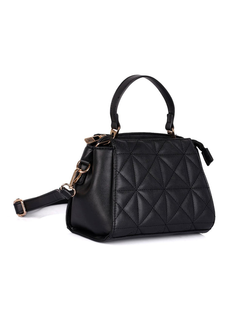 Florence Women's Quilted Crossbody Bag Black - karlahanson.com