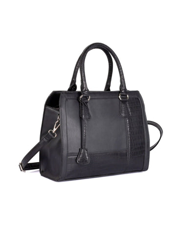 Elsie Women's Satchel Bag Black - karlahanson.com