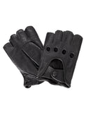 Women's Deluxe Leather Fingerless Driving Gloves