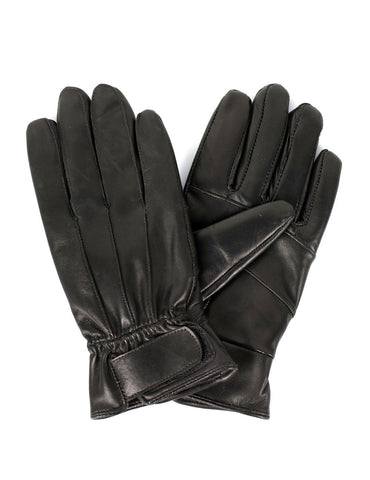 Women's Genuine Leather Touch Screen Gloves with Tab - karlahanson.com