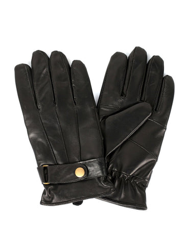 Men's Genuine Leather Touch Screen Gloves with Tab - karlahanson.com