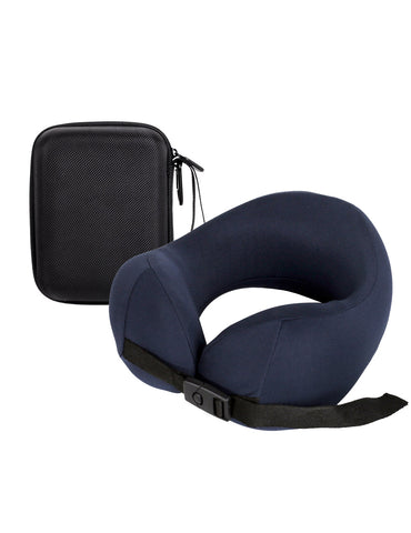 Pack n Fold Compact Ergonomic Memory Foam Neck Pillow Navy