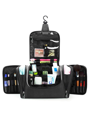 Pack n Fold Travel Cosmetic Organizer Bag Black