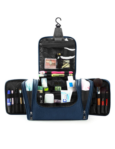 Pack n Fold Travel Cosmetic Organizer Bag Blue