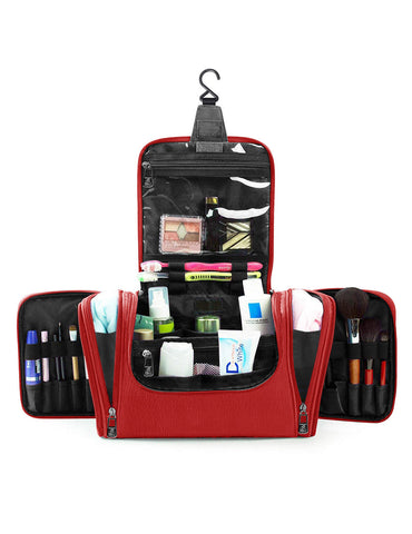 Pack n Fold Travel Cosmetic Organizer Bag Red