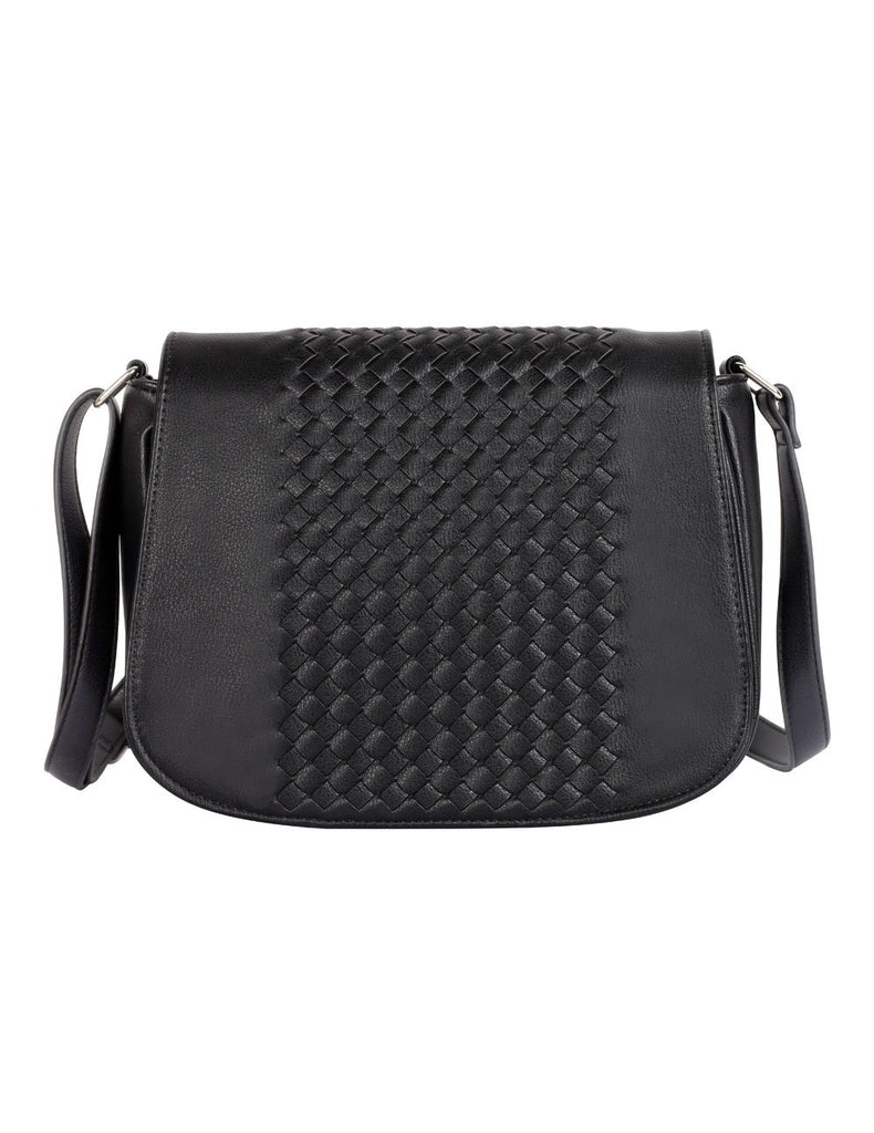 Tanya RFID Blocking Women's Crossbody Saddle Bag Black - karlahanson.com