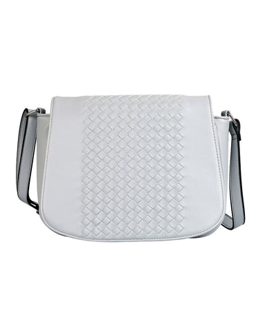 Tanya RFID Blocking Women's Crossbody Saddle Bag Grey - karlahanson.com