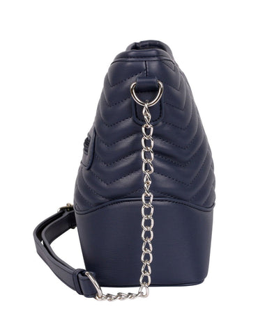 Sabrina RFID Blocking Women's Crossbody Bag Navy - karlahanson.com