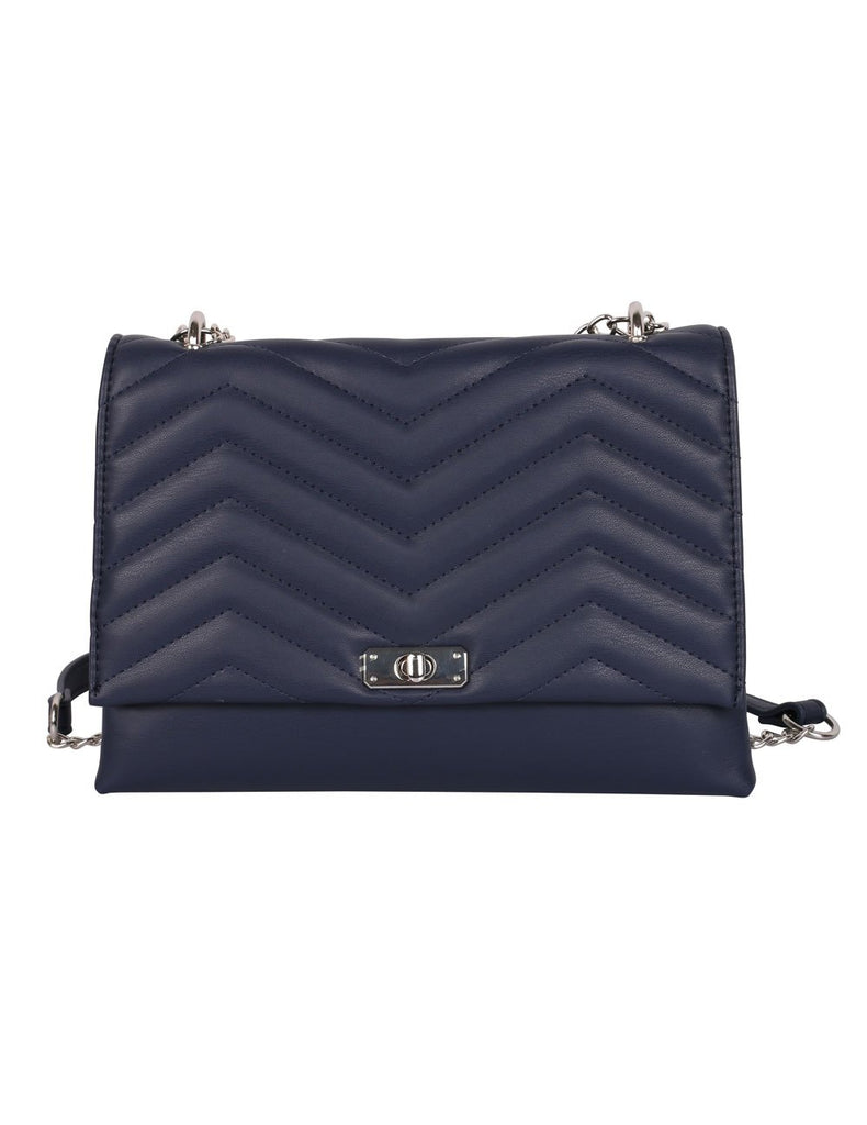 Sabrina RFID Blocking Women's Clutch Bag Navy - karlahanson.com