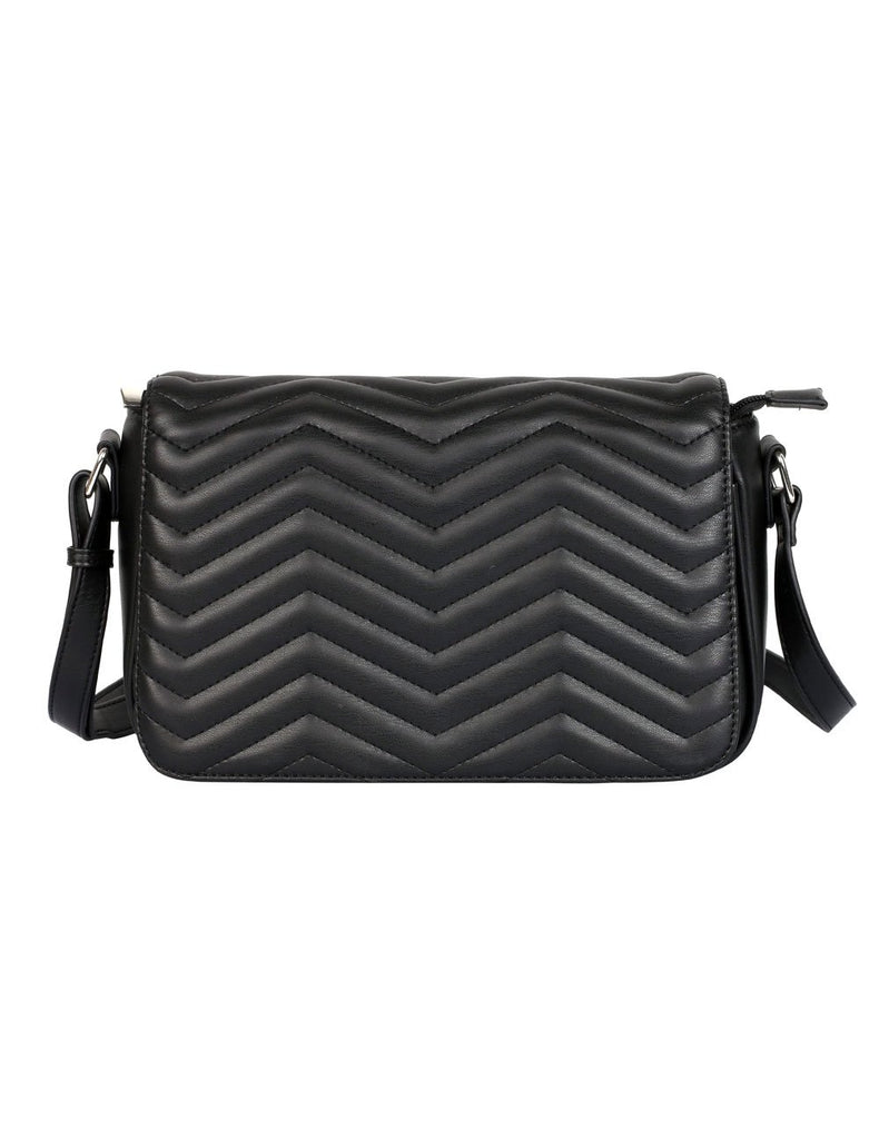 Sabrina RFID Blocking Women's Saddle Bag Black - karlahanson.com