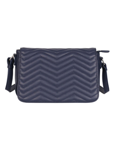 Sabrina RFID Blocking Women's Saddle Bag Navy - karlahanson.com