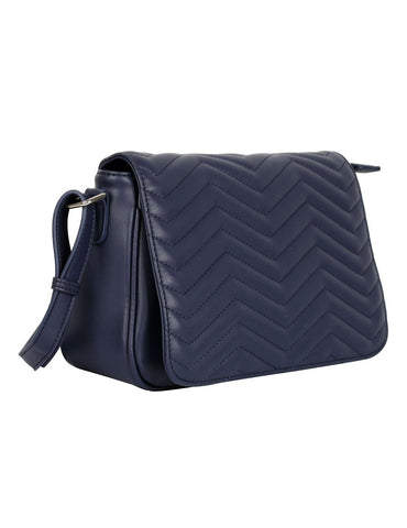 Sabrina RFID Blocking Women's Saddle Bag Navy