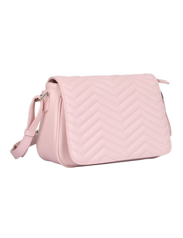 Sabrina RFID Blocking Women's Saddle Bag Pink - karlahanson.com