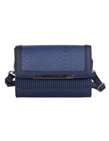 Rachel RFID Blocking Women's Crossbody Clutch Navy - karlahanson.com