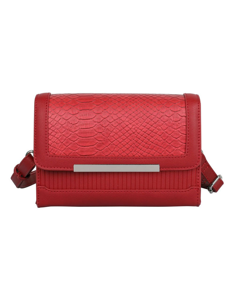 Rachel RFID Blocking Women's Crossbody Clutch Red - karlahanson.com