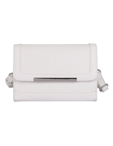 Rachel RFID Blocking Women's Crossbody Clutch White