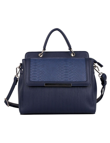 Rachel RFID Blocking Women's City Satchel Navy - karlahanson.com