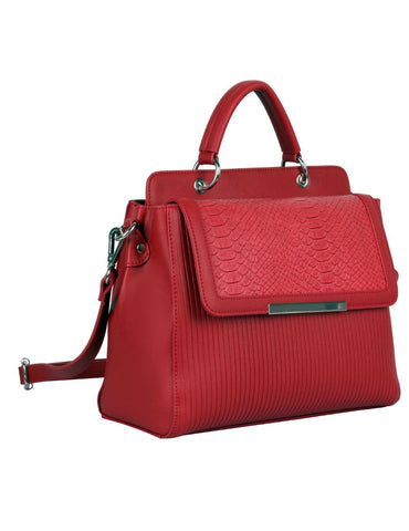 Rachel RFID Blocking Women's City Satchel Red - karlahanson.com