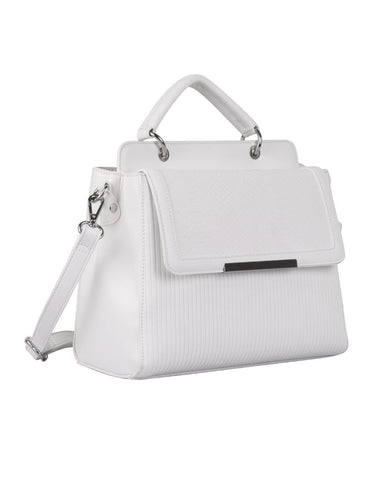 Rachel RFID Blocking Women's City Satchel White - karlahanson.com
