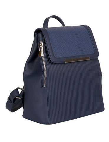 Rachel RFID Blocking Women's Backpack Navy - karlahanson.com