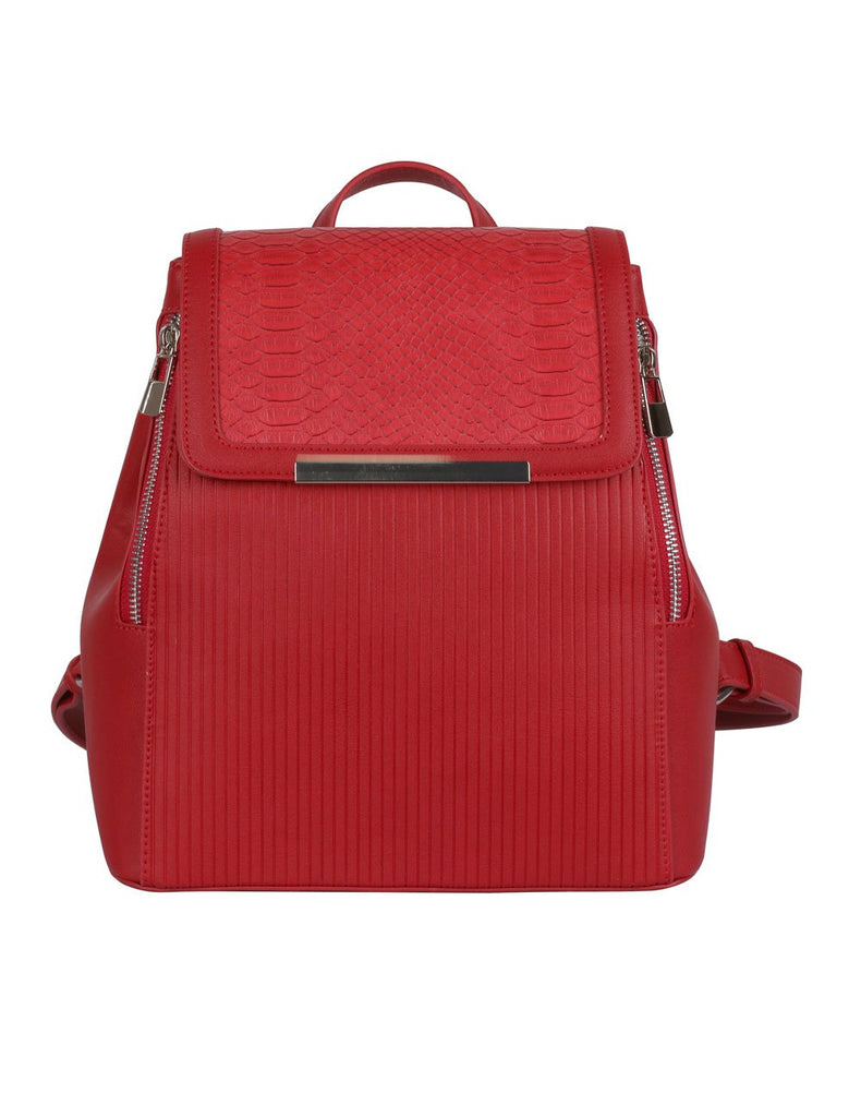 Rachel RFID Blocking Women's Backpack Red - karlahanson.com