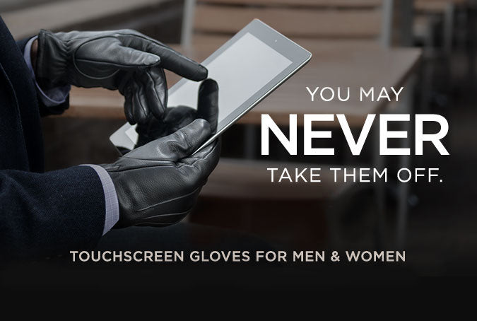 Touch Screen Leather Gloves