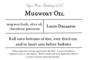 Mugwort Infused Oil