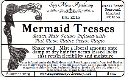 Mermaid Tresses, Beach Hair Potion Infused with Maine Ocean Magic - July 31, 8pm Release