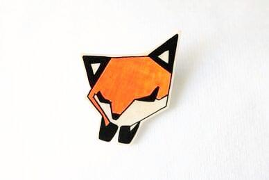 SleepyFox brooch