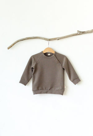 Button-Shoulder Sweater