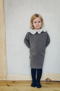 Oversized dress Mina (cotton fleece)