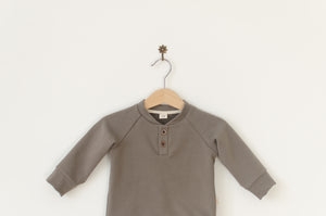 Placket neck sweater