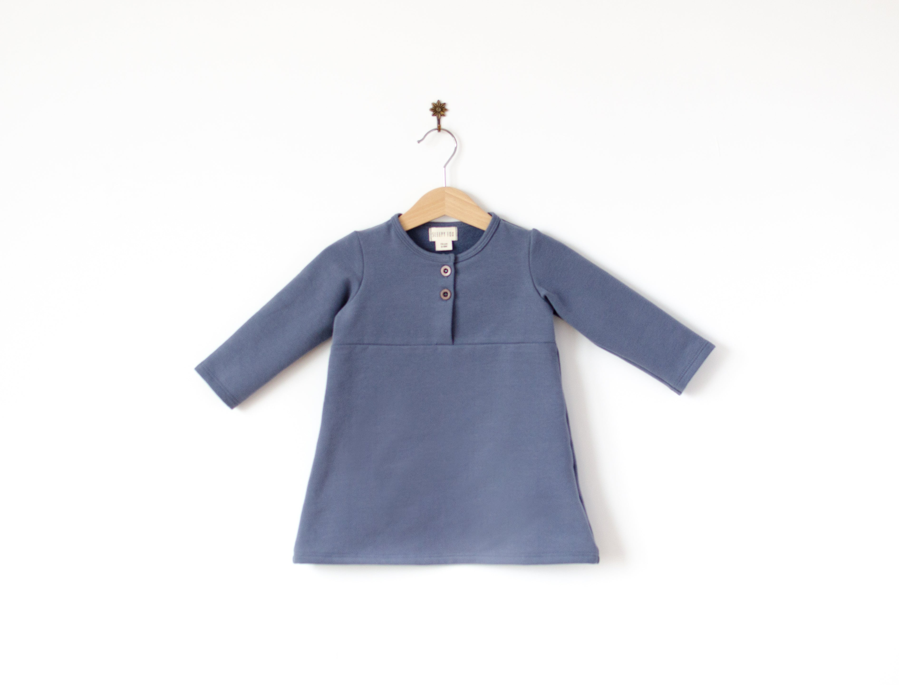 Placket neck dress Sophia
