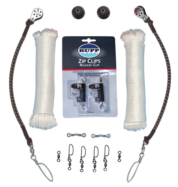 Single Rigging Kit with White Braided Nylon