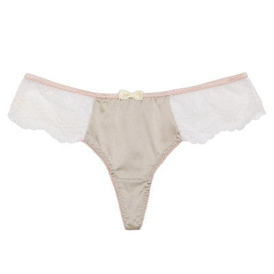 Envy Shine Gray Silk Thong