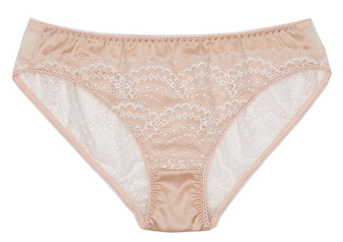 SALE   Pearly Silk Shell Pink Bikini