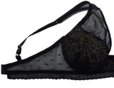 Polka Pot Black Underwire Bra