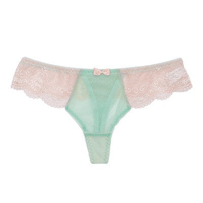 Floret Love Blue Thong